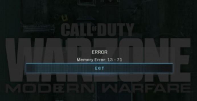 Как исправить ошибку memory error 13-71 в Warfare и Modern Warfare