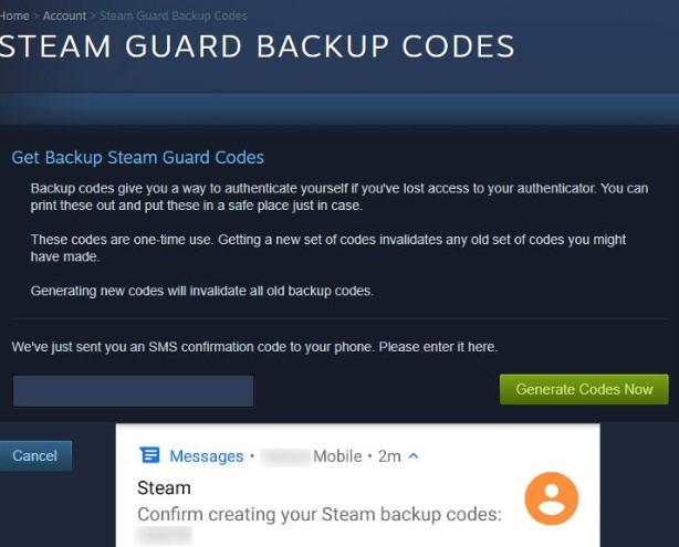 Steam Guard резервные коды